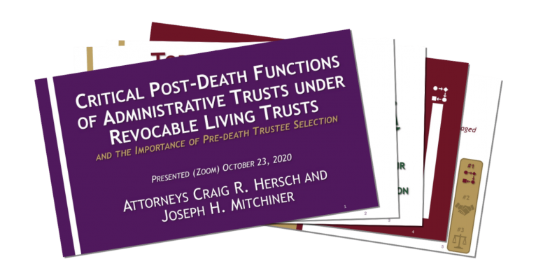 Critical PD Functions of Trusts